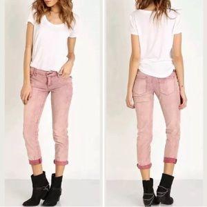 Roller Crop Corduroy Pants
